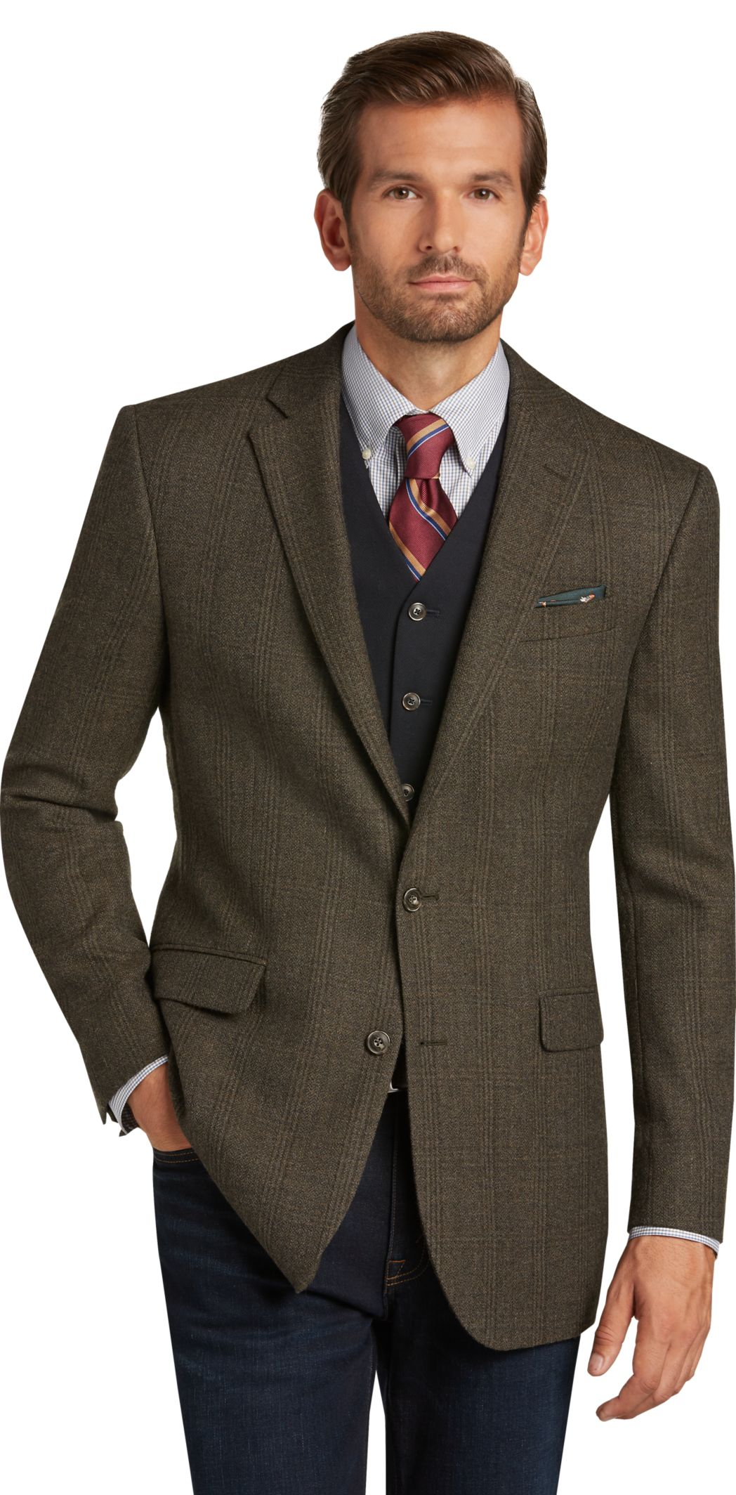 Jos. A. Bank 1905 Collection Men's Tailored Fit Plaid Sport Coat
