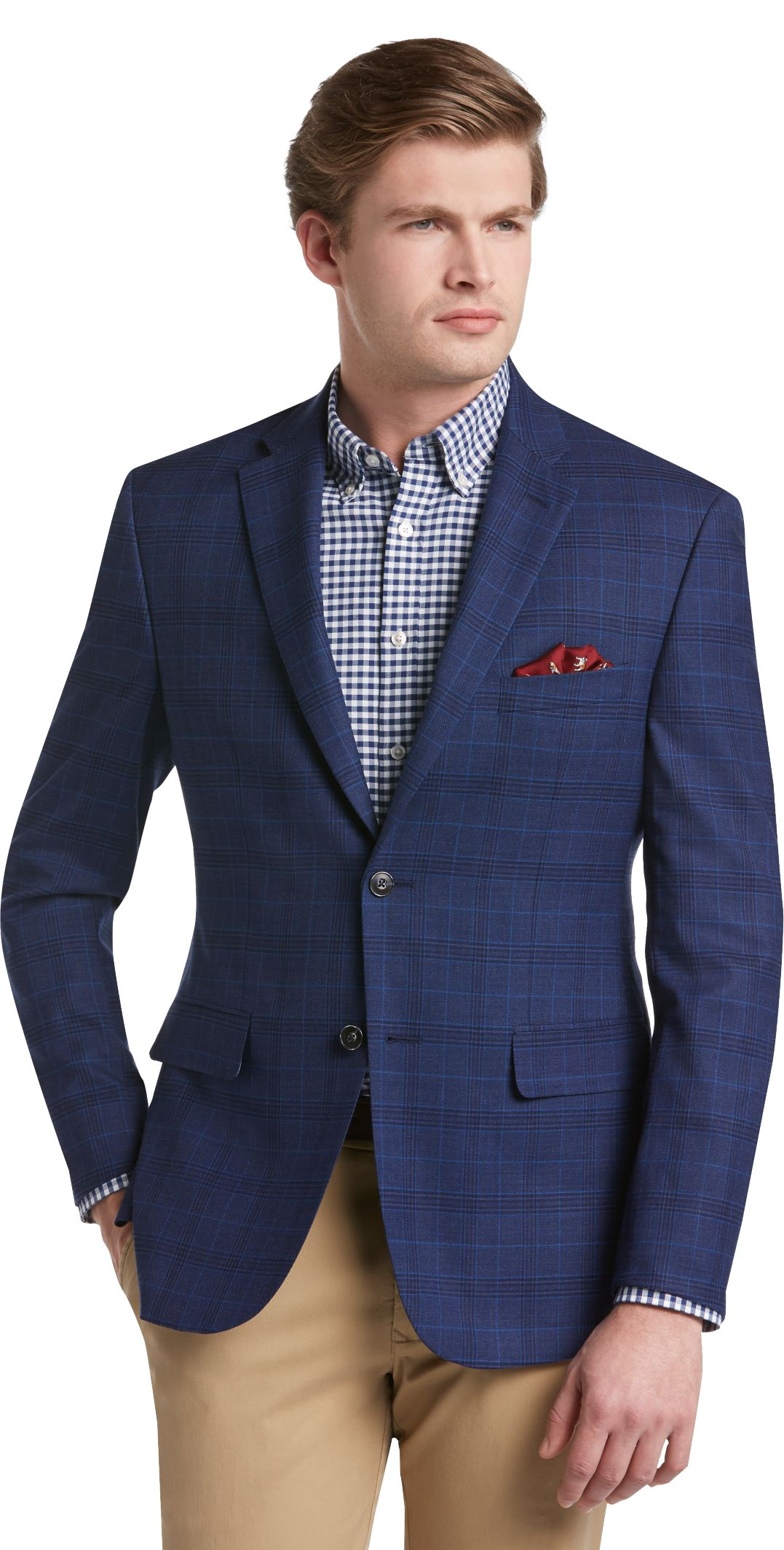 1905 Collection Tailored Fit Plaid Sportcoat - 1905 Sportcoats ...