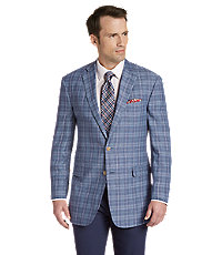 Men's Vintage Style Suits, Classic Suits 1905 Collection Tailored Fit Plaid Sportcoat - Big  Tall $169.00 AT vintagedancer.com