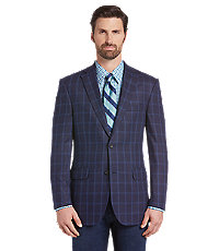 Men's Vintage Style Suits, Classic Suits Reserve Collection Tailored Fit Windowpane Sportcoat - Big  Tall $269.00 AT vintagedancer.com