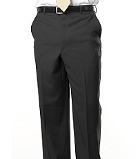 Signature Gold Plain Front Trousers- Charcoal, Navy Stripe