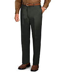 Traveler Plain Front Tailored Fit Khakis