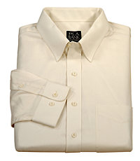 Traveler Solid Herringbone Point Collar Sportshirt