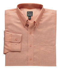 Traveler Tailored Fit Twill Button-Down Sportshirt