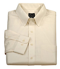Traveler Solid Herringbone Point Collar Tailored Fit Sportshirt