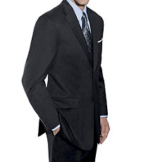 Traveler Tailored Fit 2 Button Suit with Plain Front Trousers- Grey Checkered, Navy
