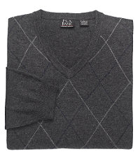 Lambswool Sweater Fine Gauge Raker V-Neck