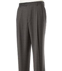 Signature Wool Milled Trousers Pleated