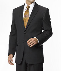 Traveler Tailored Fit 2-Button Suits Plain Front- Grey