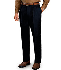 Traveler Pleated Tailored Fit Khakis with quarter top pocket