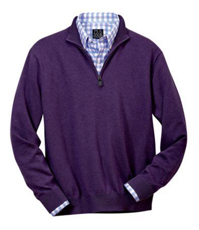 Jos. A. Bank Signature Pima Cotton Half-Zip Sweater (Multiple Colors)