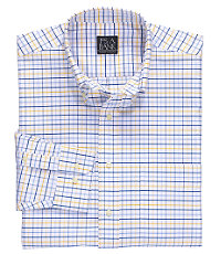 Traveler Long-Sleeve Buttondown Patterned Oxford Sportshirt