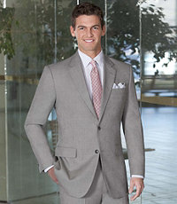 Tropical Blend 2 Button Tic Weave Suit