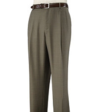 Executive Wool Pleated Front Trousers
