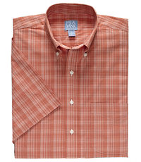 Stays Cool Textured Glen Plaid Short Sleeve Sportshirt