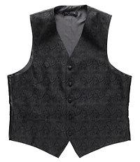 Black Tonal Paisley Vest