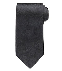 Black Tonal Paisley Formal Tie