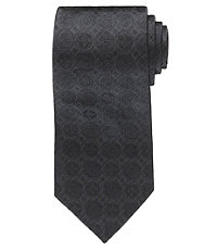 Black Tonal Medallion Formal Tie