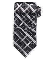 Black Plaid Formal Tie