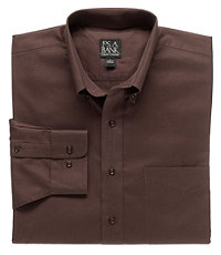 Twill Long-Sleeve Cotton Traveler Sportshirts Big or Tall