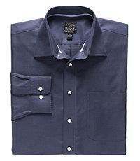 Signature Long-Sleeve Cotton Spread Collar Sportshirt
