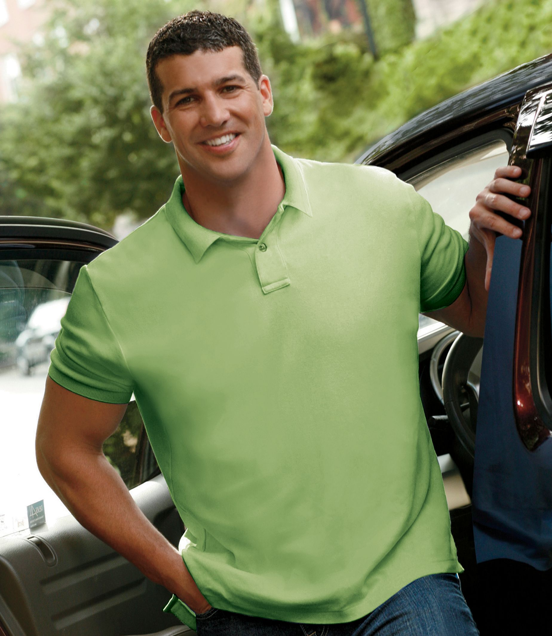 Traveler Solid Short Sleeve Big/Tall Polo