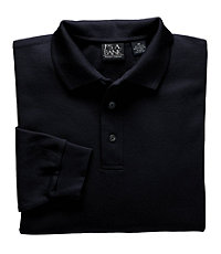 Traveler Long Sleeve Tailored Fit Pique Polo