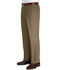 Executive Patterned Wool Pleated Trouser