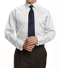 Factory Store Non-Iron Standard Fit Spread Collar/French Cuff Dress Shirt