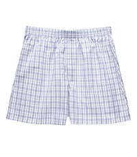 Patterned Boxer- Blue/White/Black/Grey Plaid