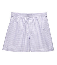 Patterned Boxer- Grey/Lavender/White Stripe