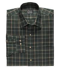 Traveler Tailored Fit Poplin Point Collar Sportshirt