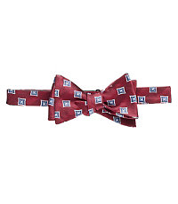 Gold Invert Square Bow Tie