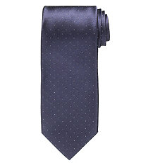 Platinum Navy Pin Dot Tie