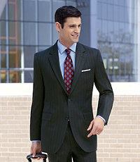 Traveler Suit Separate 2-Button Jacket- Extended Sizes
