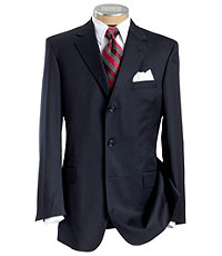 Executive 3-Button Wool Suit with Center Vent with Pleated Front Trousers- Sizes 44 X-Long-52