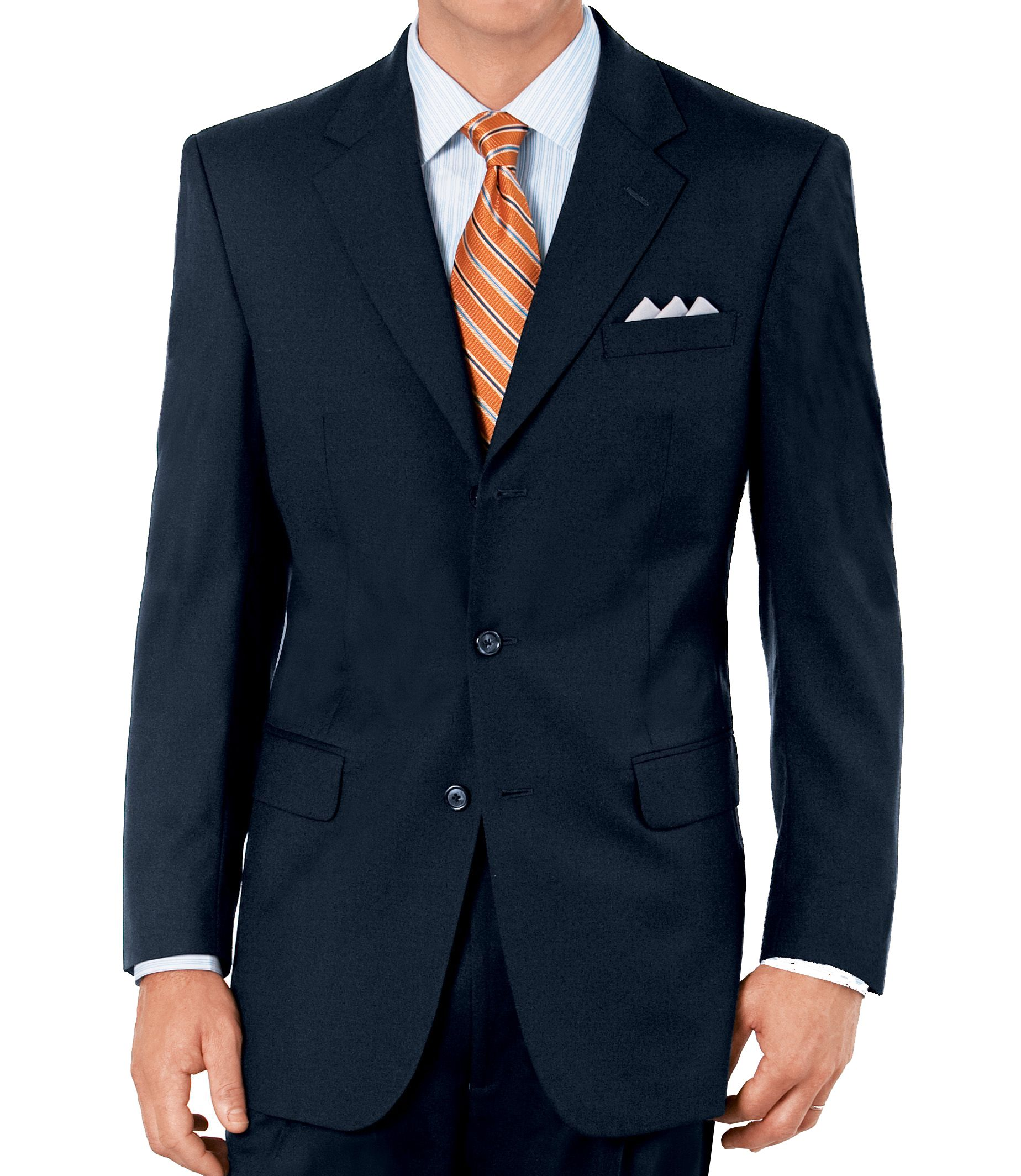 Executive 2-Button Wool Suit with Pleated Front Trousers- Sizes 44 X-Long-52 - Charcoal Fancy Plain, Navy, Olive Fancy Plain