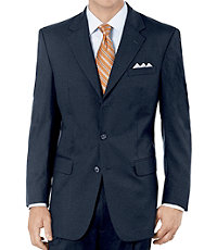 Executive 2-Button Wool Suit with Center Vent with Pleated Front Trousers- Sizes 44 X-Long-52
