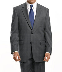 Executive 2-Button Wool Suit with Center Vent and Pleated Front Trousers- Sizes 44 X-Long-52