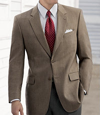 Signature 2-Button Wool Patterned Sportcoat- Sizes 52-60