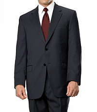 Signature Gold 2-Button Wool Suit- Sizes 44 X-Long-52- Black/White/Grey/Navy Birdseye