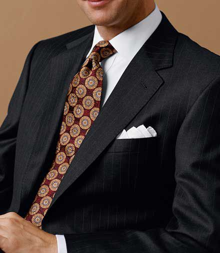 Signature Gold 2-Button Wool Suit- Sizes 44 X-Long-52- Black, Charcoal Grey Stripe, Navy