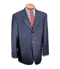 Executive 3-Button Wool Blazer- Sizes 44-52