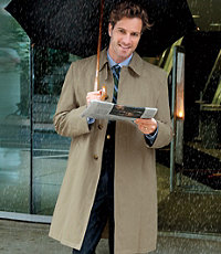 Three-Quarter Length Tri-Blend Raincoat- Sizes 44-52