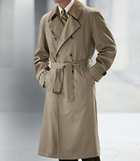 Double-Breasted Raincoat- Sizes 44-52