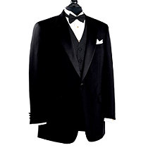 Black Notch Lapel Tuxedo Jacket- Sizes 48-52