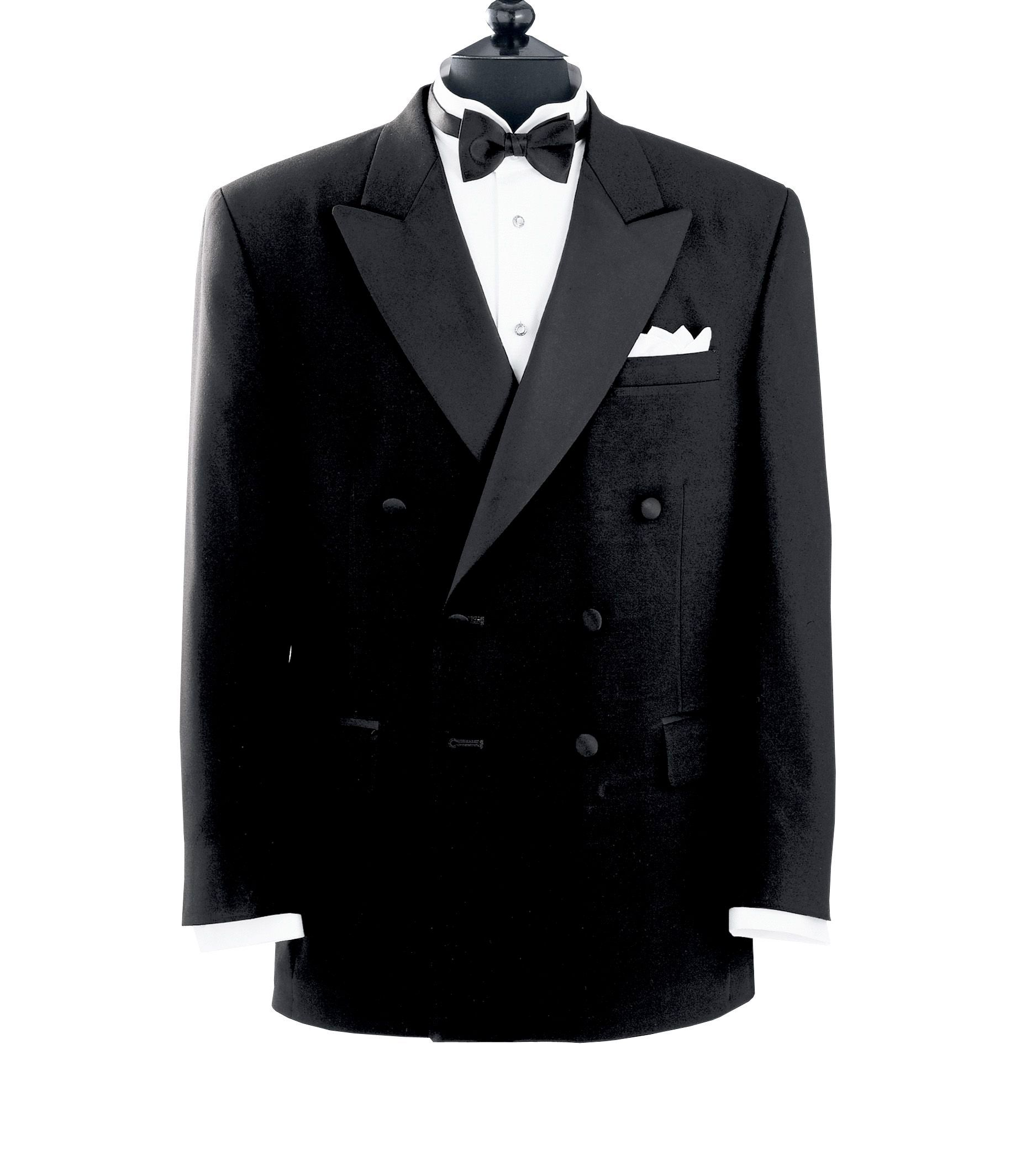 Black Double Breasted Tuxedo Jacket- 1940's Mens Formal Wear