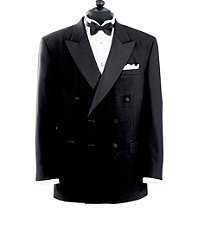 Black Double Breasted Tuxedo Jacket- Sizes 48-52