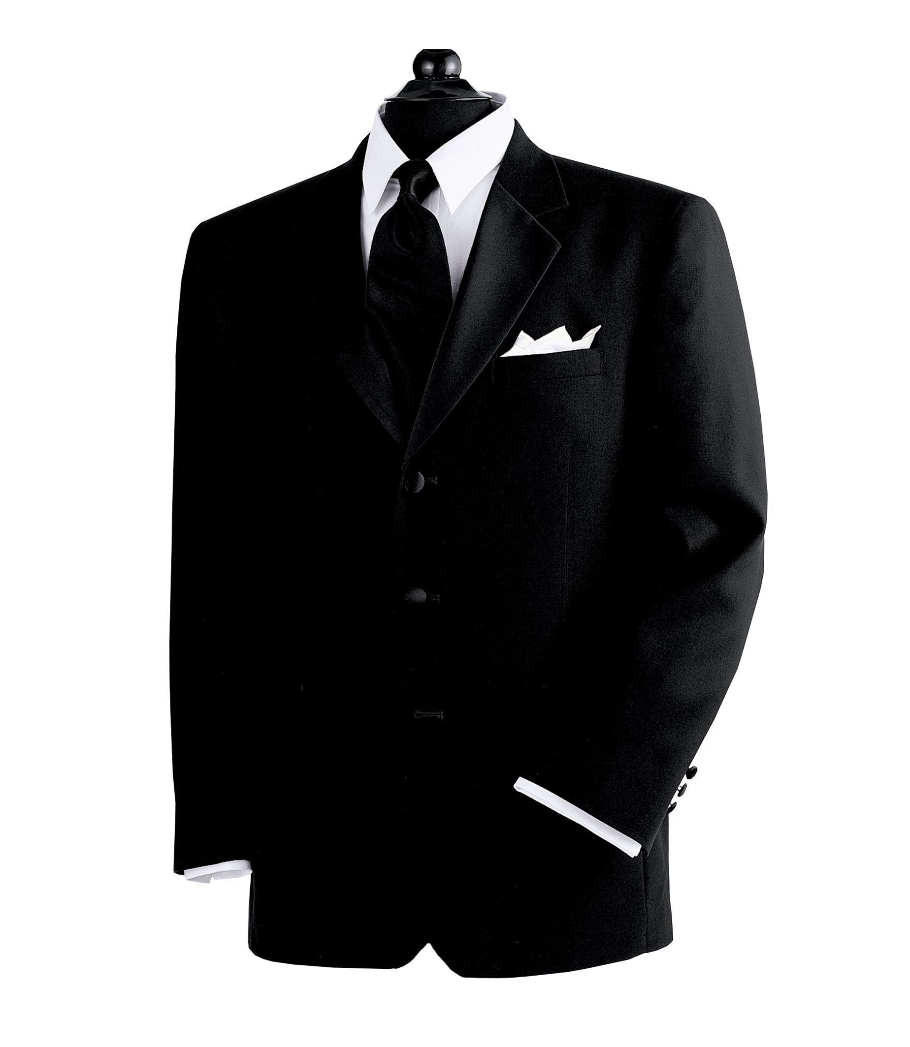 Men's Suit Black 3-Button Tuxedo Jacket- Sizes 48-52 JoS. A. Bank - BLACK - 46 - X-LONG