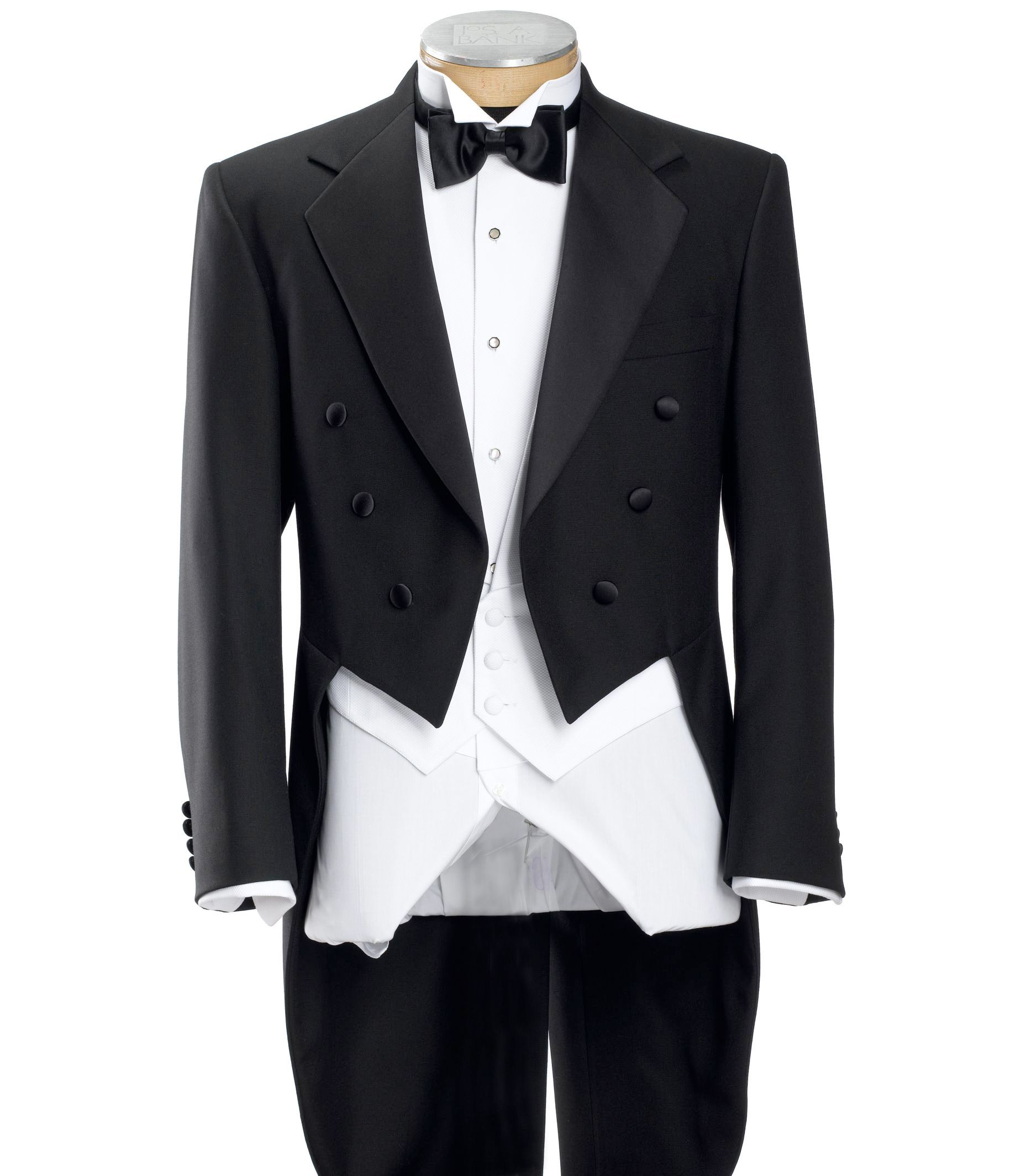Black Tails Coat Tuxedo Jacket- Sizes 48-52 $312.69 AT vintagedancer.com